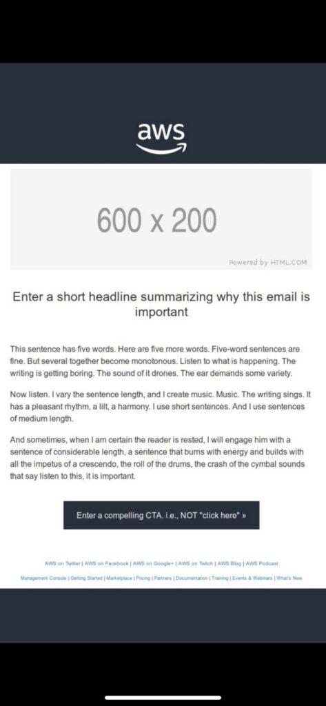 Amazon E-Mail Template