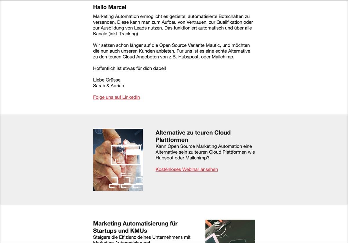 Sample Newsletter Mautic
